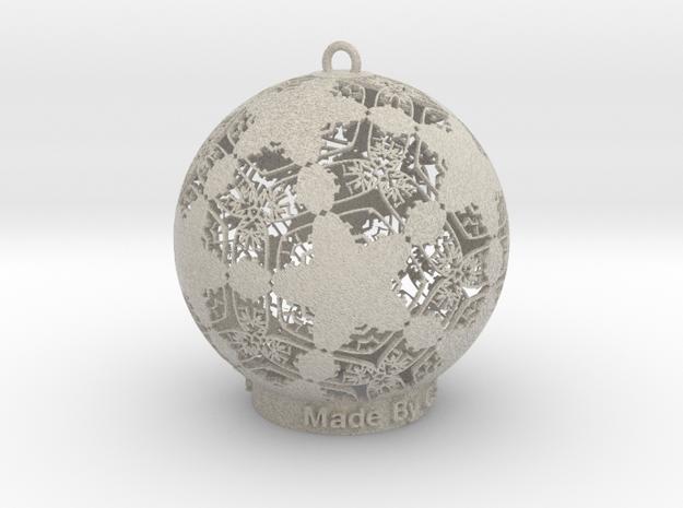 Filgree Palm Ornament in Natural Sandstone