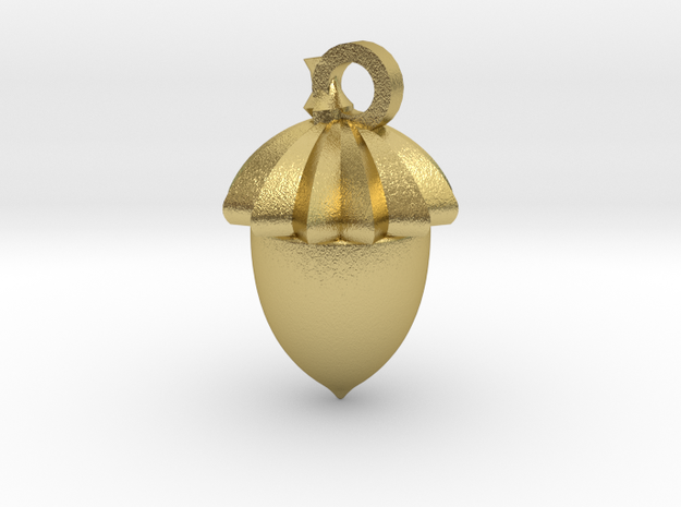 geometric acorn novembre  in Natural Brass