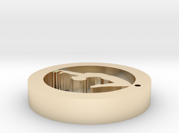 hole724yoga8 in 14k Gold Plated Brass