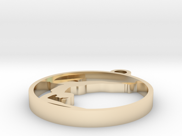 yoga06 in 14k Gold Plated Brass