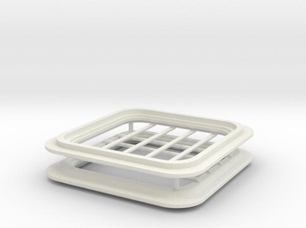 SC38 Hatch 1:5 in White Natural Versatile Plastic