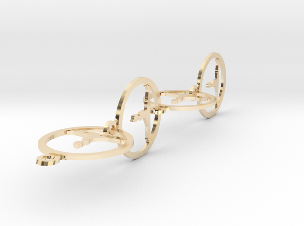 036yoga in 14k Gold Plated Brass