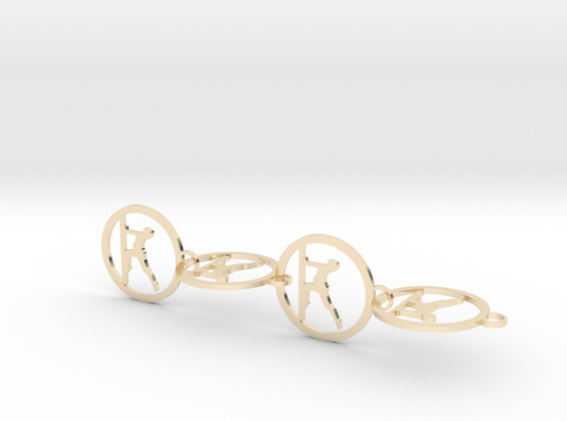 yoga (7) in 14k Gold Plated Brass