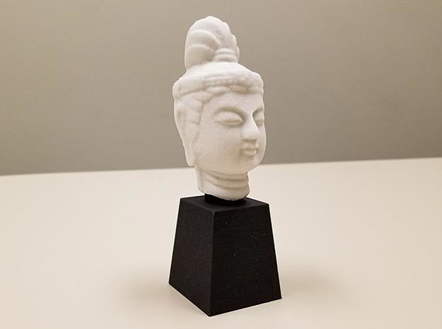 Type 1 Buddha Head (Hollow) 77mm in Natural Sandstone