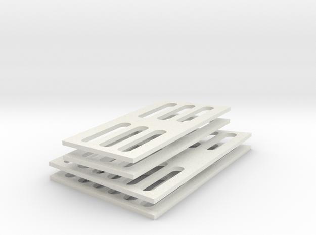 SC38 Air Grids 1:5 in White Natural Versatile Plastic