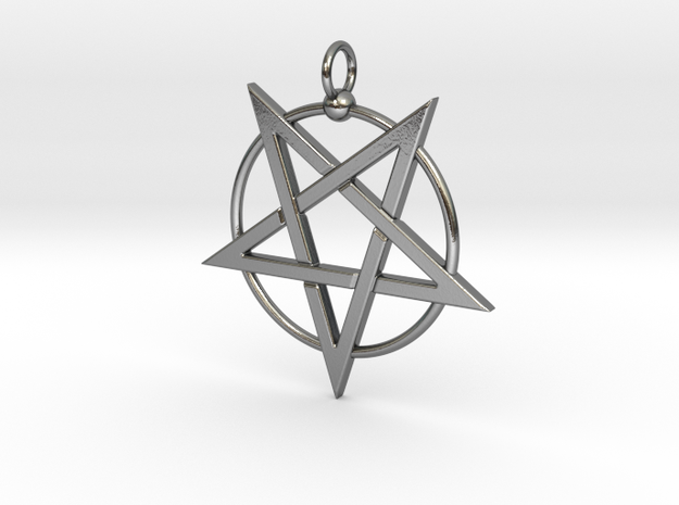 last pentagram3updatedver5 in Polished Silver