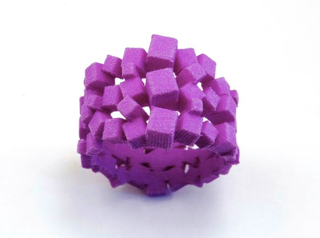 Triple Prism Ring  in Purple Processed Versatile Plastic: 7 / 54