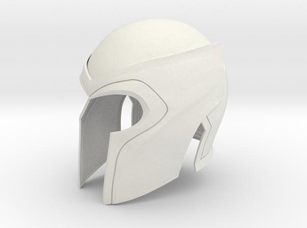 Magneto X-men 2&3 helmet 1/6 th scale  in White Natural Versatile Plastic