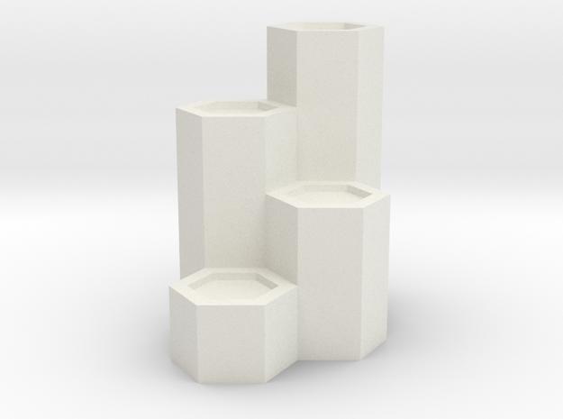 山 Mountain in White Natural Versatile Plastic: Small