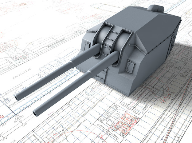"1/72 DKM 15cm/48 (5.9"") Tbts KC/36T Gun x1 in Smooth Fine Detail Plastic"