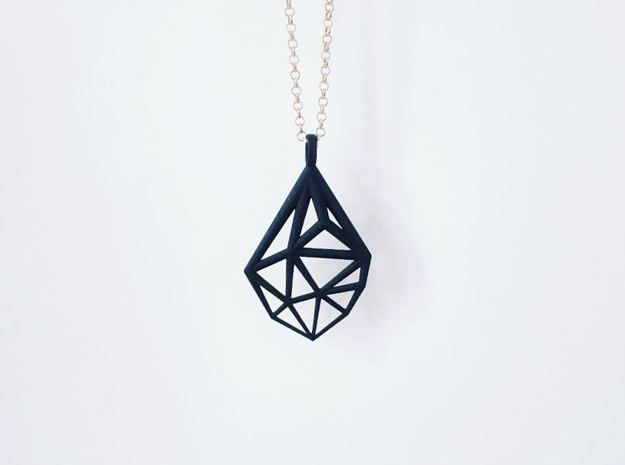 Drop Pendant in Black Natural Versatile Plastic