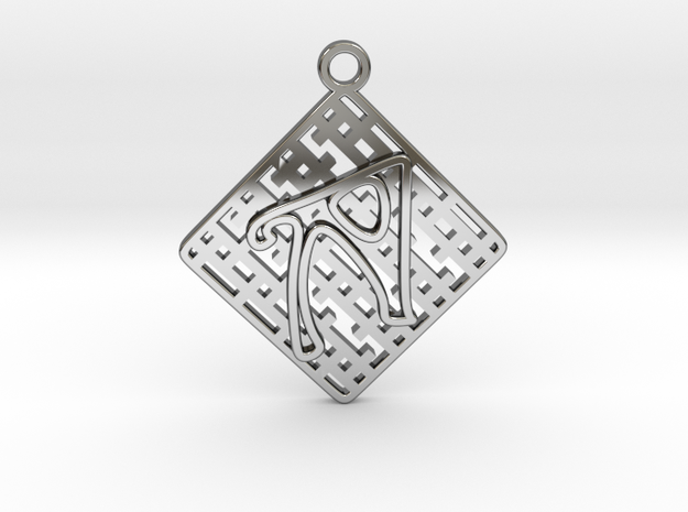 Tessellation Pendant (002) in Fine Detail Polished Silver