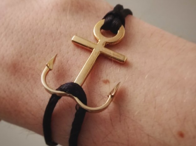 Anchor bracelet in Polished Brass