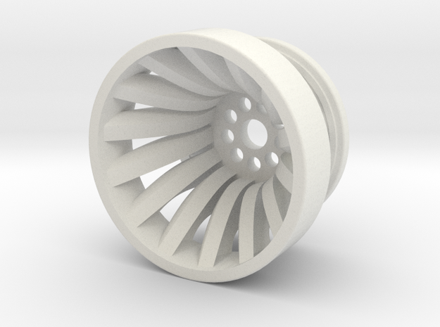 Francis Hydroelectric Turbine Runner in White Natural Versatile Plastic: 1:160 - N