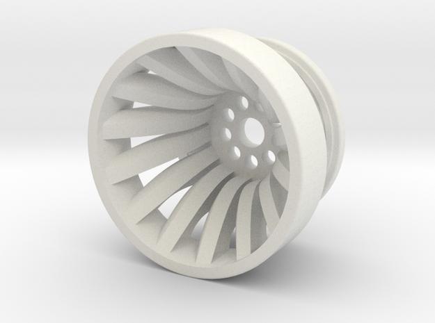 Francis Hydroelectric Turbine Runner in White Natural Versatile Plastic: 1:160 - N