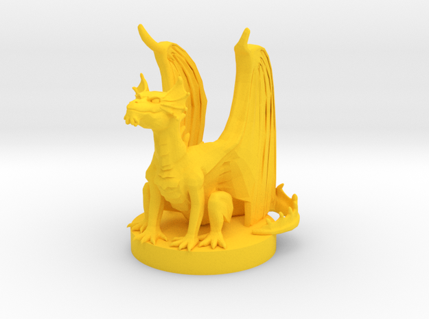 Brass Dragon Wyrmling in Yellow Processed Versatile Plastic
