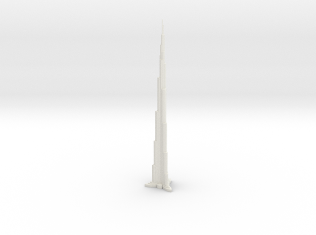 Dubai Burj Khalifa Tower World's Tallest Buiding in White Natural Versatile Plastic