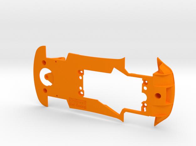 PSCA00801 Chassis for Carrera Aston Martin Vantage in Orange Processed Versatile Plastic