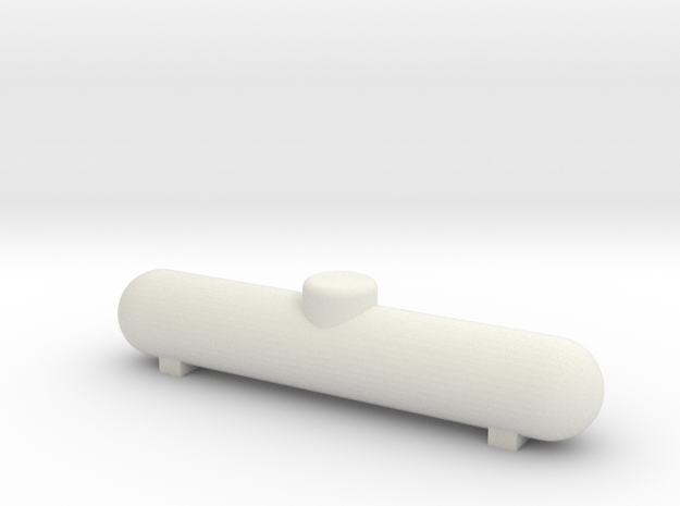 HO Scale 1000 gal Propane Tank in White Natural Versatile Plastic