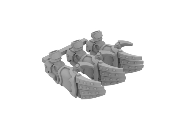 Miniature scale - Iron Wolf Claws RIGHT (3pc) in Smoothest Fine Detail Plastic