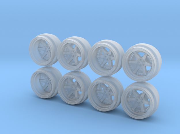Rotiform Six 8-5 Hot Wheels Rims in Smoothest Fine Detail Plastic