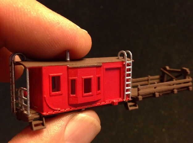 Bay Window Caboose MOW Flat Car