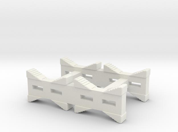 55-gal-drum-rack-o-scale in White Natural Versatile Plastic