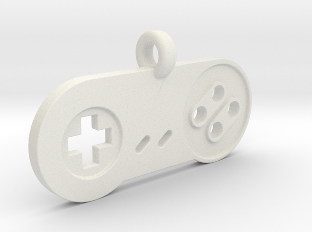 SNES Controller Styled Pendant in White Natural Versatile Plastic