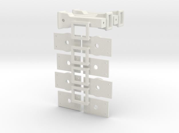 couplers and center plates in White Natural Versatile Plastic