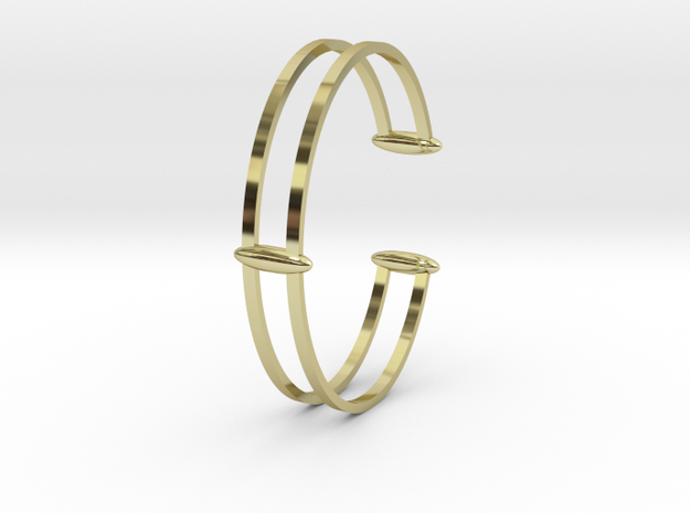 Bracelet 18 in 18k Gold Plated Brass