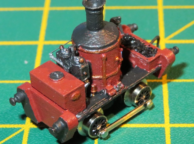 N Gauge Head Wrightson Coffee Pot Shunter in Smooth Fine Detail Plastic