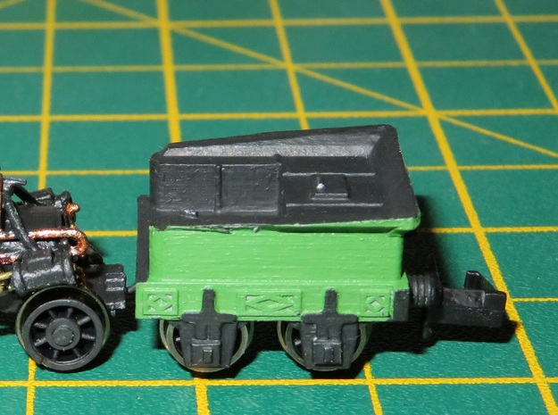 N Gauge Rocket V2 Tender Scratch Aid in Smooth Fine Detail Plastic