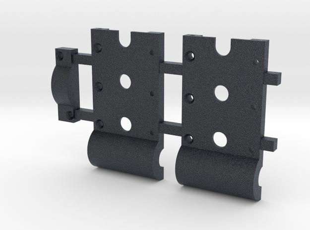 """HO Gear Box Case 0.3 mod Double Idler 1/8"""" Axle in Black PA12"""