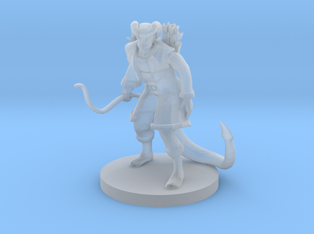 Tiefling Male Monk with Bow in Smooth Fine Detail Plastic