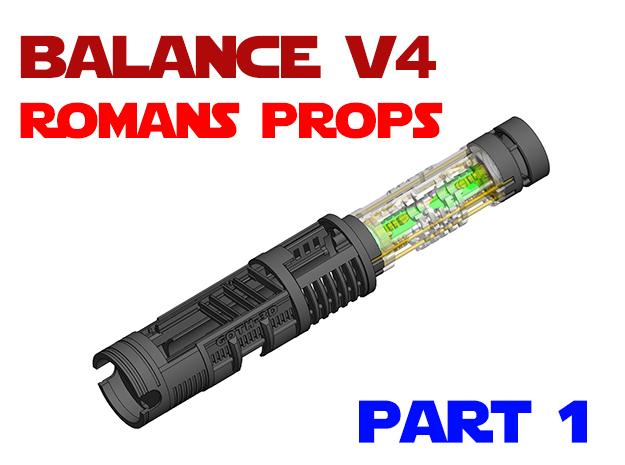 Roman Luke V4 - Part1 Main Chassis in White Natural Versatile Plastic