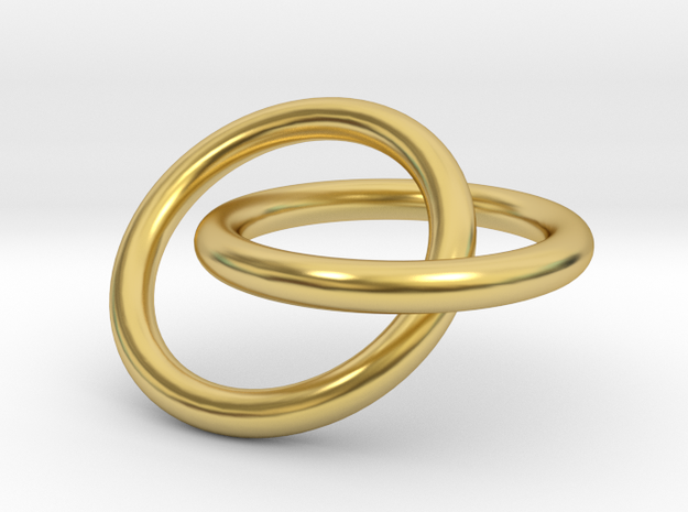 Interlocking Rings Pendant in Polished Brass (Interlocking Parts)