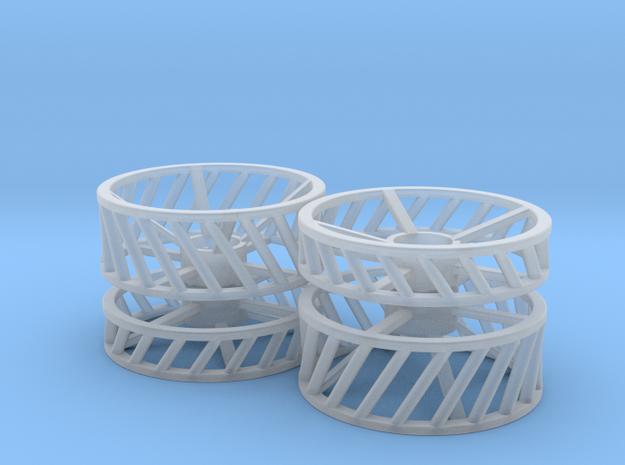 Gitterräder Unimog 411 in Smooth Fine Detail Plastic