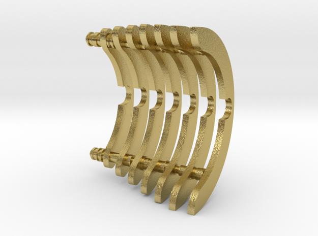 Heat Sink Fins (partial) for PP Starkiller in Natural Brass