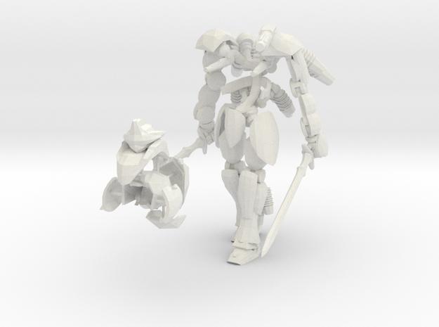 War Frame in White Natural Versatile Plastic