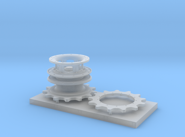 M26 Pershing Hub with separate Sprocket in Smooth Fine Detail Plastic
