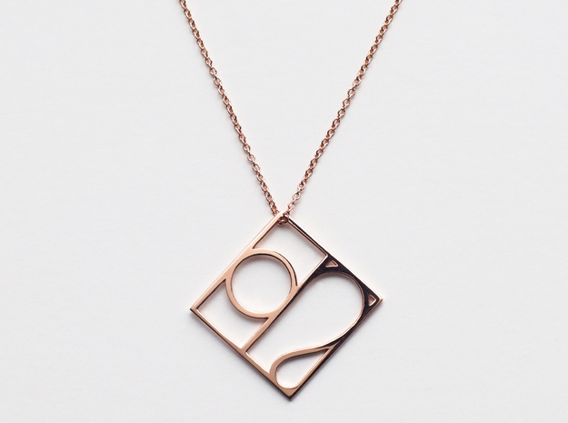 Leo in 14k Rose Gold Plated Brass