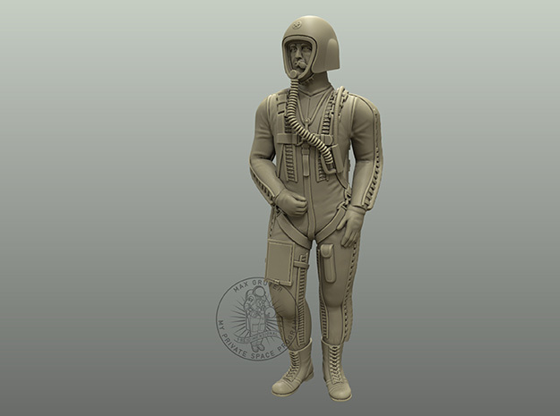 Pilot I (Partial Pressure Suit) / 1:72, 1:48 in Smoothest Fine Detail Plastic: 1:48 - O