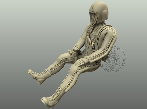 Pilot II (Partial Pressure Suit) / 1:72, 1:48 in Smoothest Fine Detail Plastic: 1:48 - O
