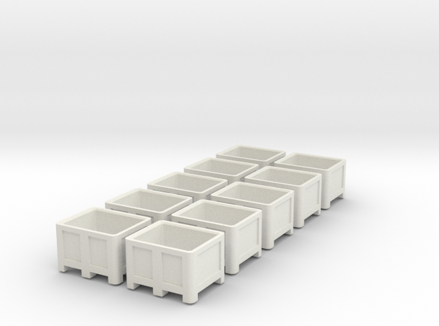 1:50 10x Palletbox in White Natural Versatile Plastic