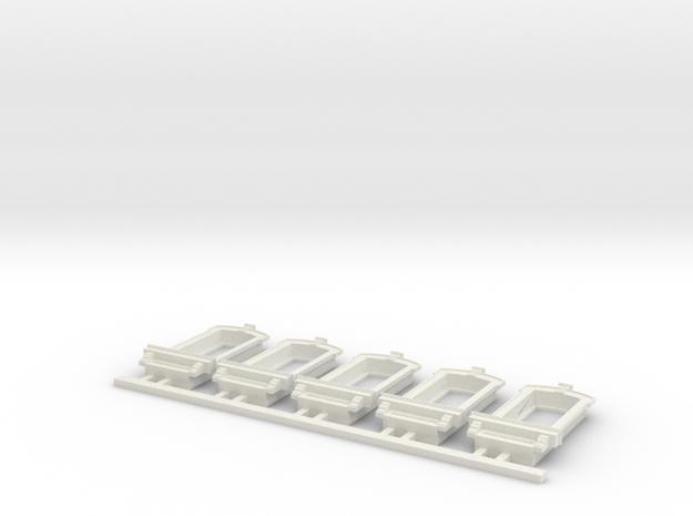HO WCK Single Fancy Window X 5 in White Natural Versatile Plastic