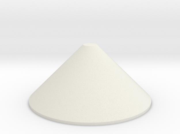 1/64 12' Tower Bottom Cone in White Natural Versatile Plastic