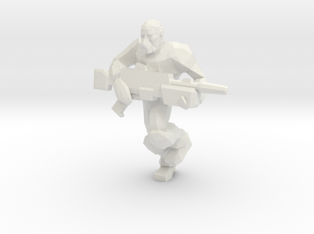 Armed Gas Miner in White Natural Versatile Plastic