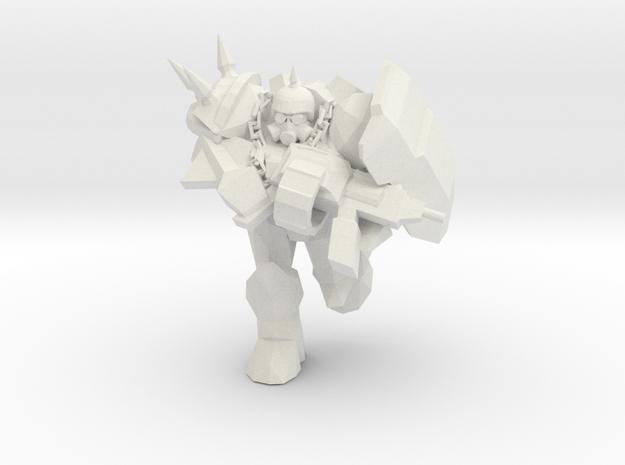 Punk Marine 2  in White Natural Versatile Plastic