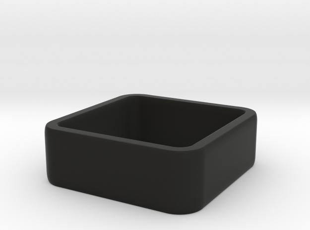 quadrato size 3.5 in Black Natural Versatile Plastic