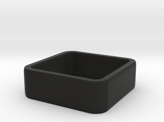 quadrato size 4 in Black Natural Versatile Plastic